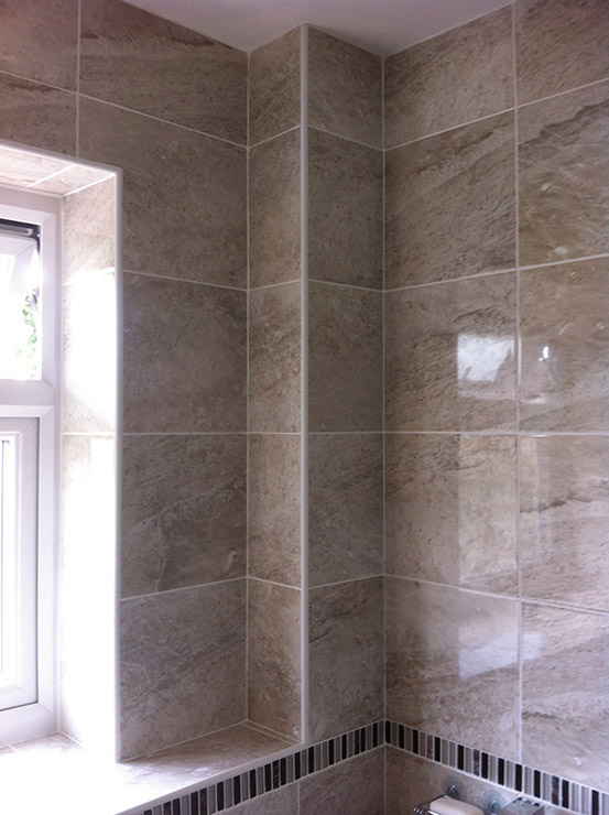 close up photo of bathroom tiles - Bathroom Tiles Redditch